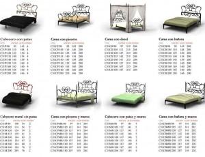 Cabeceros de Cama y Camas para el Dormitorio Matrimonio de Forja Ágata