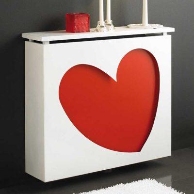 Cubreradiador Corazón. Cubreradiadores de Forja.