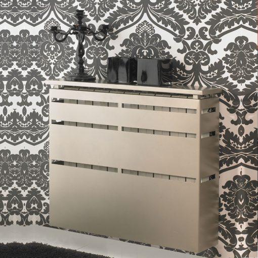 Cubreradiador Lineal como Recibidor con Espejo. Cubreradiadores de Forja.