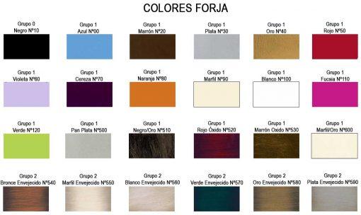 Colores Muebles de Forja DMI